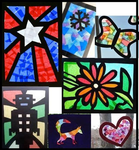 Paper Stained Glass Craft - cellophane craft paper stained glass windows ashhurst