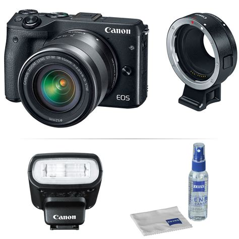Canon Eos M Lens Adapter Electronic Eos To Eos M Merk Viltrox canon eos m3 mirrorless digital with 18 55mm
