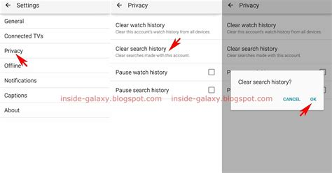 how to delete search history on android inside galaxy samsung galaxy s4 how to clear search history in app in android 5 0 1