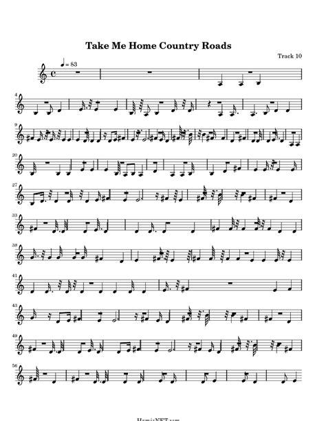 Take Me Home Country Roads Sheet Music - Take Me Home