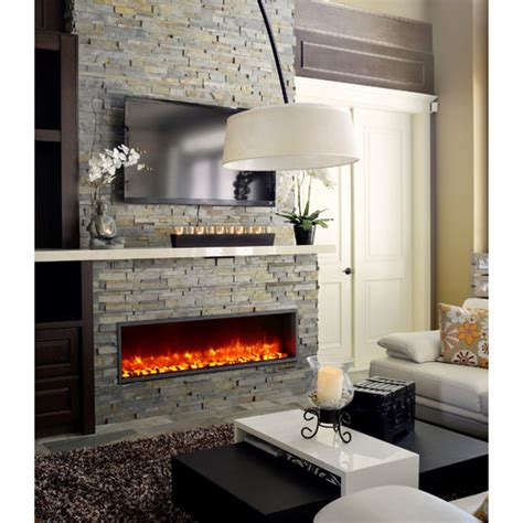 Built In Electric Fireplace Dynasty 55 Quot Built In Led Electric Fireplace Reviews