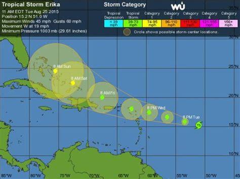 imagenes satelitales tormenta erika florida activa una alerta parcial por amenaza de la