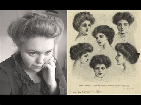 how to do hairstyles of 1900 edwardian era ca 1900 hair updo youtube