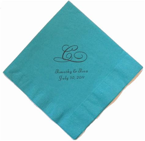 Wedding Napkins by Single Initial Monogrammed Wedding Napkins 100ct