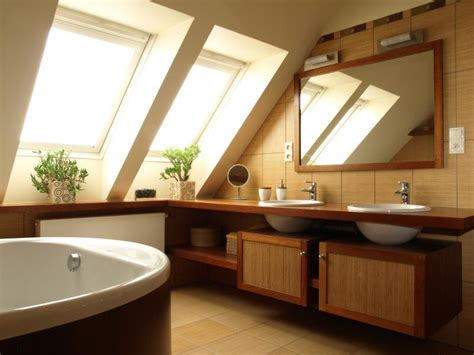 wooden house bathroom finished attic photos slideshow