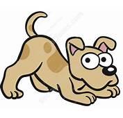Light Brown Dog Stretching Cartoon Clipart