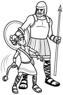 david and goliath coloring page 108 best 2016 discipleland images on bible
