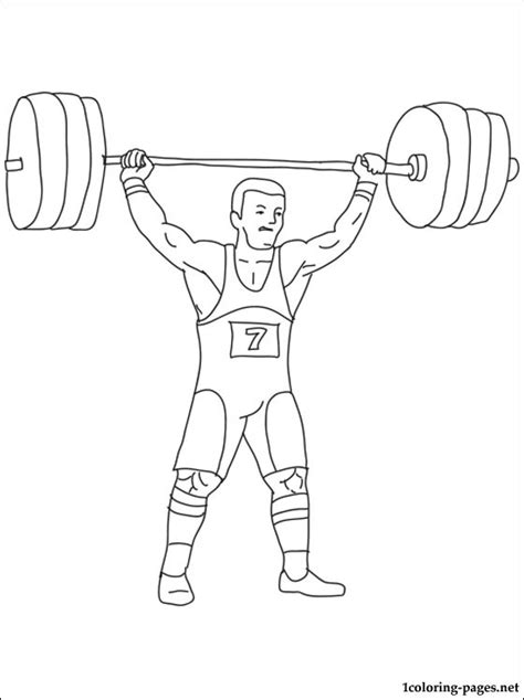 weightlifting coloring page coloring pages