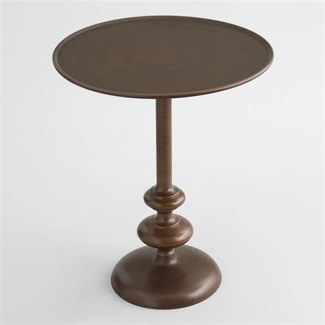 Brass Pedestal Table antique brass jace pedestal table world market