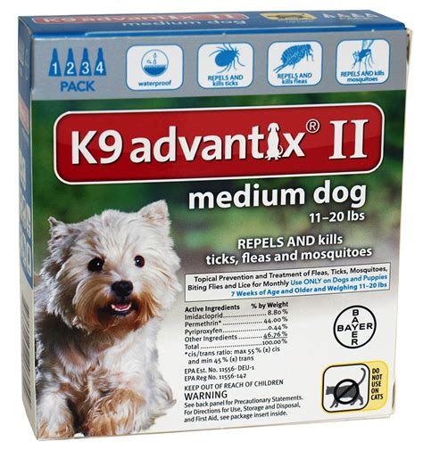 advantix for dogs advantix ii for dogs between 11 20 lbs 4 month supply