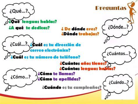 preguntas basicas de espanol preguntas presentarse saludar y despedirse