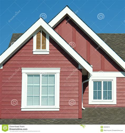 red siding house home exterior roof red siding house stock photography image 29699872