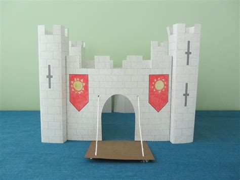3d pattern paper etsy 3d paper castle craft instant download template from