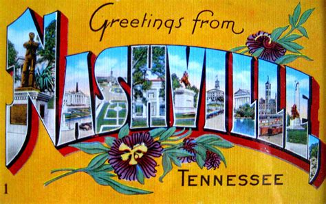 Nashville Search Stephens Vintage State Postcards