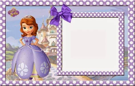 Sofia The First Party Invitation Template