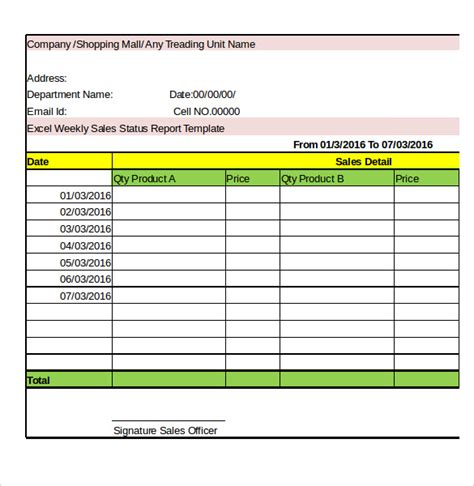 weekly activity report template 28 free word excel