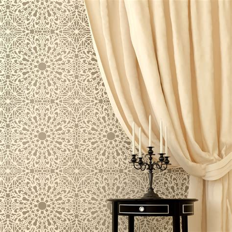 lace pattern wall art new stephanie s lace allover wall pattern stencil diy