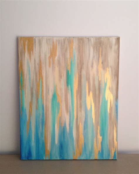 themes for canvas gold blue gold abstract on 16 x 20 stretched canvas abstract