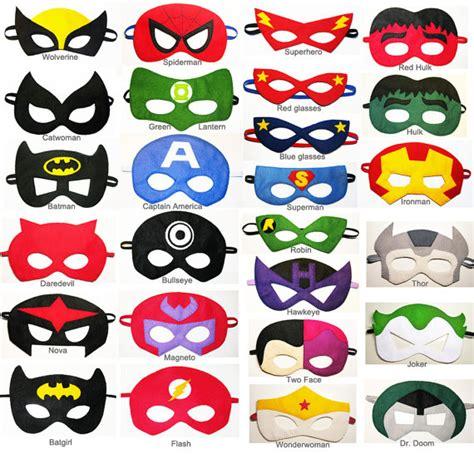 pattern for felt superhero mask 4 felt superhero masks party pack for kids you by feltfamily