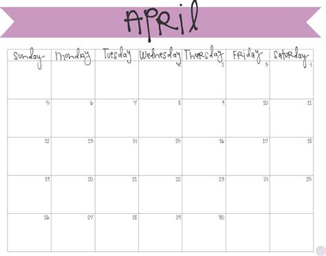 April Calendar 2015 Printable 2017 Printable April Calendars Print Blank Calendars