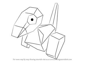 How To Draw step by step drawing tutorial on how to draw porygon from pokemon