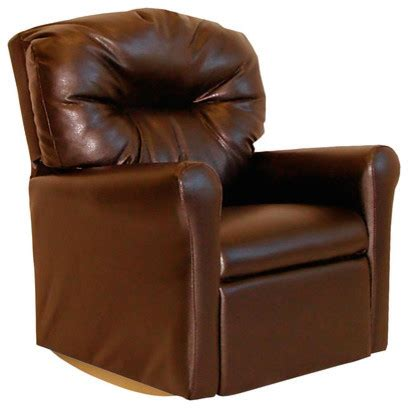 Brown Leather Rocker Recliner Chair Contemporary Pecan Brown Leather Like Child Rocker