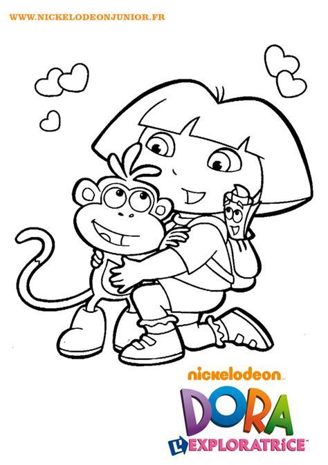Coloriages Dora L Exploratrice Babouche Et Dora Sont