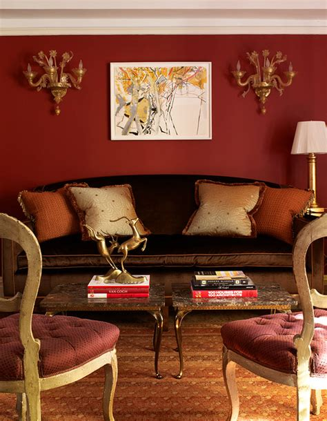 brown red and orange home decor palette the power of red traditional home