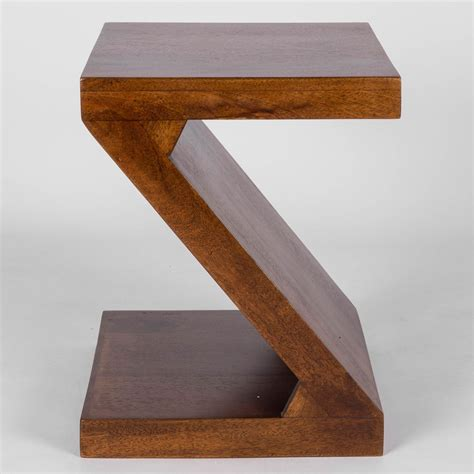 z side table dakota quot z quot shaped side end table handcrafted 100 solid