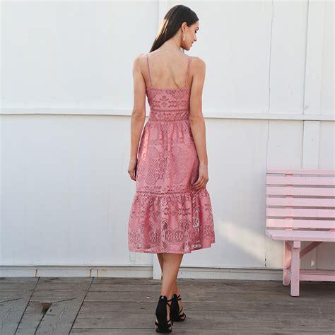 Laila Button Pink pink buttons leila dress