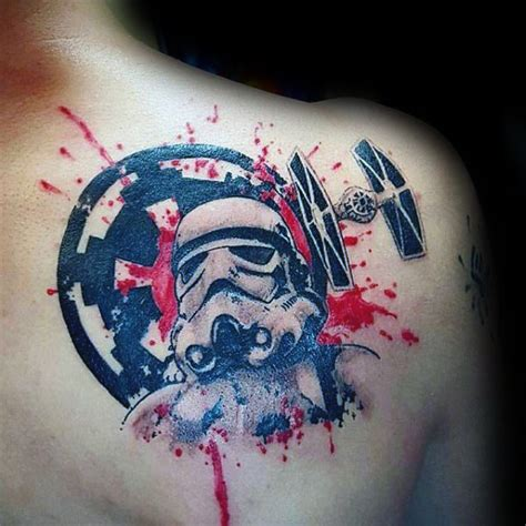 splatter paint tattoos 100 stormtrooper designs for wars ink ideas