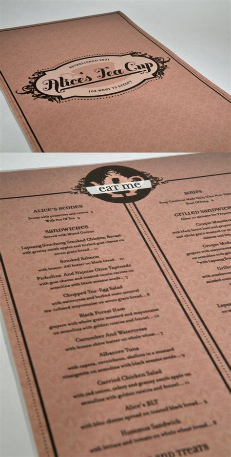 design menu restaurant inspiration restaurant menu design inspiration