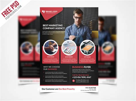 free business flyers templates free psd corporate business flyer template psd freebie
