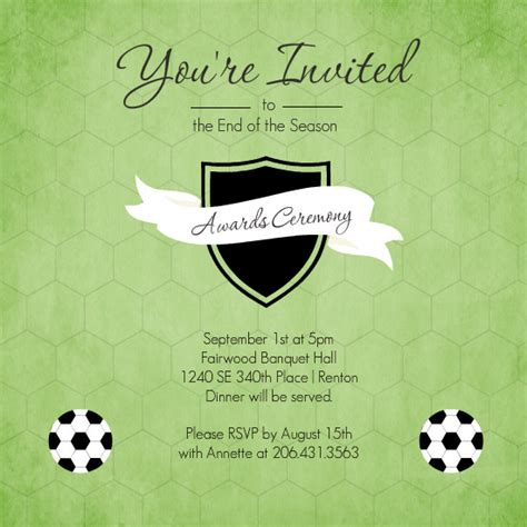 football banquet invitation templates