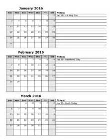 3 month calendar template printable three month calendar calendar template 2016