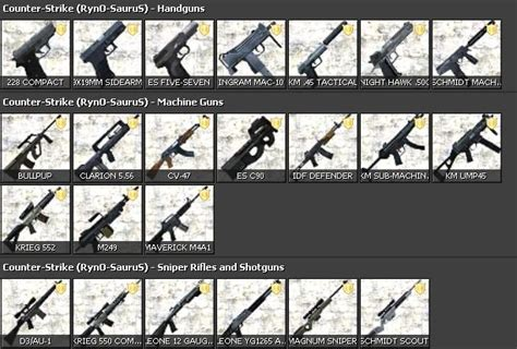 Cs All Type ryno s css weapons august 11 garrysmods org