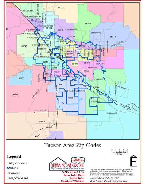 Pima County Housing Search by Tucson Zip Code Map
