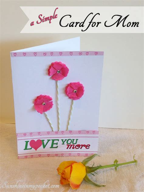 simple mother s day card ideas simple as that mother s day sunshine in my pocket