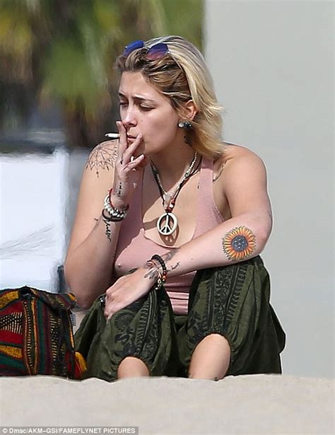 paris jackson vs madonna paris jackson takes a smoke break daily mail online