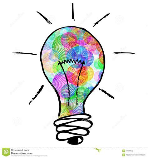 creative clipart creative colorful lightbulb stock illustration image