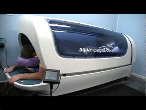 aqua massage bed aqua massage therapy for chronic pain and autism youtube