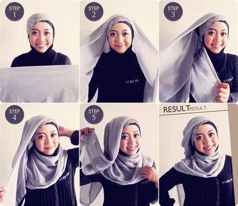 tutorial hijab paris wedding tutorial memakai hijab paris feptiamadita
