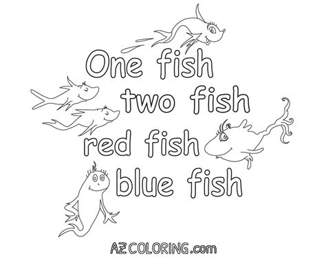 One Fish Two Fish Coloring Page one fish two fish fish blue fish coloring pages