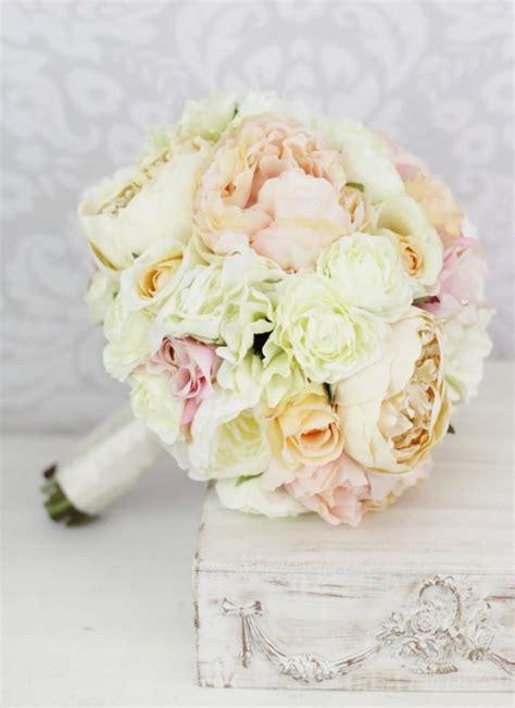 shabby chic wedding flowers silk bouquet pink peony flowers peonies shabby chic wedding 2381909 weddbook