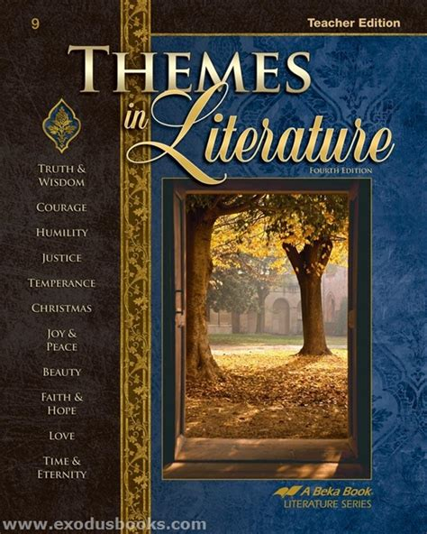 themes in literature answer key themes in literature teacher guide exodus books