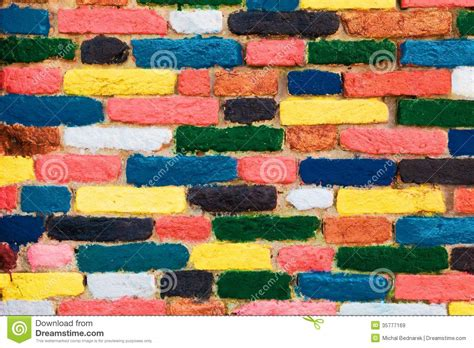 unique pattern background colorful brick wall unique background royalty free stock