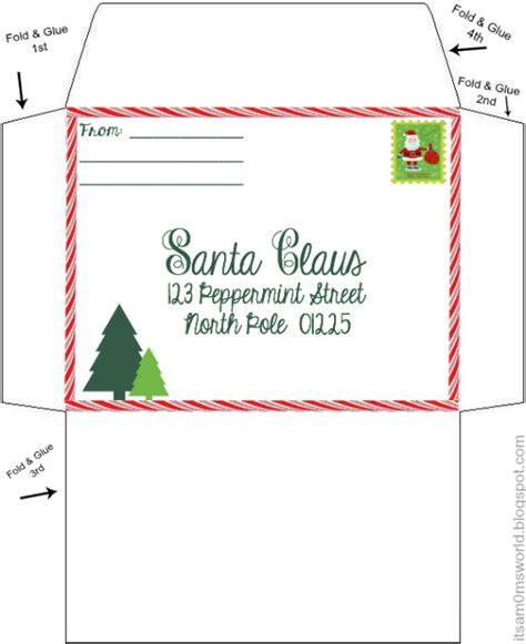 santa envelope template it s a s world our letters to santa includes free