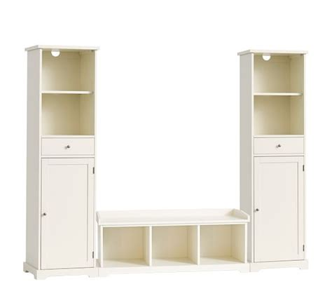 Entryway Storage Tower 3 bench storage tower entryway set pottery barn