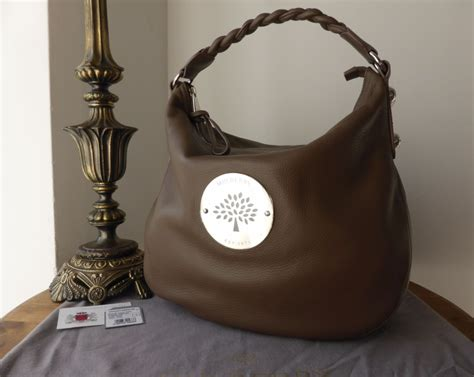 Bittersweet Shiny Medium Hobo by Mulberry Medium Hobo In Taupe Spongy Pebbled Leather