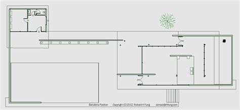 barcelona pavilion floor plan dimensions richard h fung barcelona pavilion